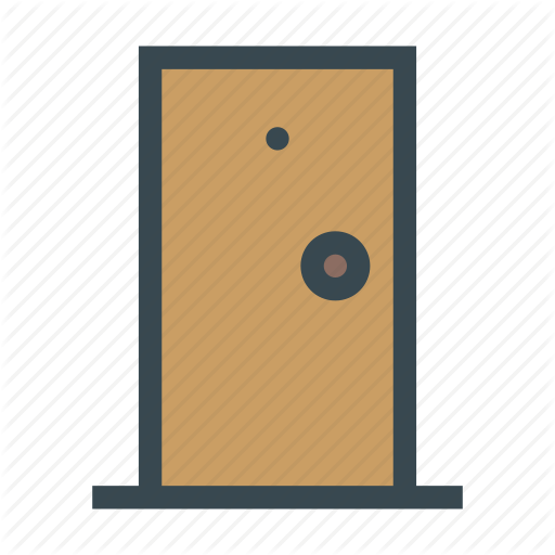 Closed, Door, Front, House, Interior Icon