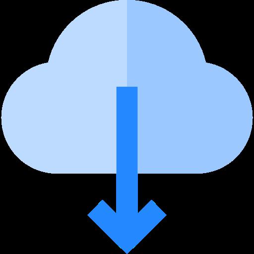 Cloud Computing, Down Arrow, Interface Icon