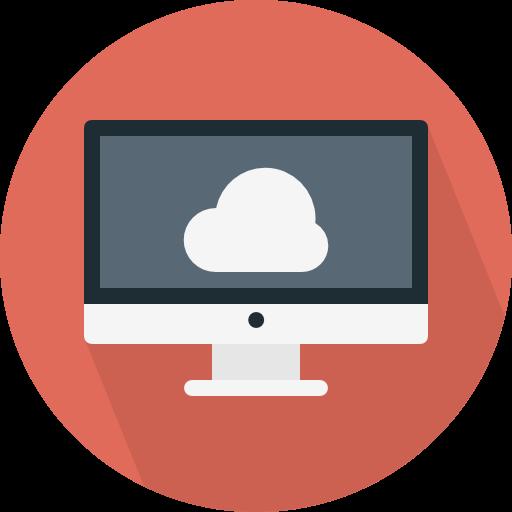 Computer, Monitor, Screen, Cloud Computing Icon
