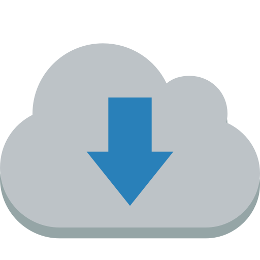 Cloud Down Icon Small Flat Iconset Paomedia