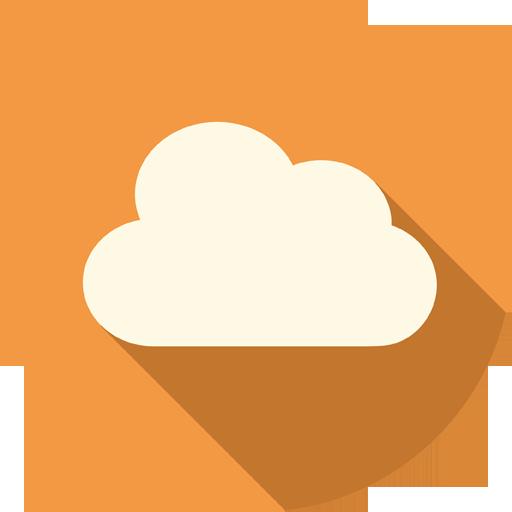 Cloud Icon Long Shadow Media Iconset Pelfusion