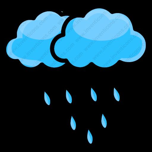 Download Rain,drop,rain,forecast,cloud Icon Inventicons