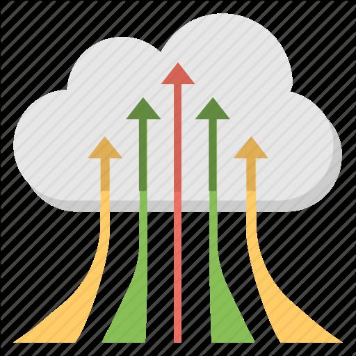 Cloud Computing, Cloud Migration, Cloud With Arrows, Data Transfer