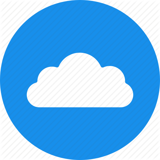 Blue, Circle, Cloud, Computing, Hosting, Services Icon