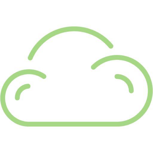 Guacamole Green Cloud Icon