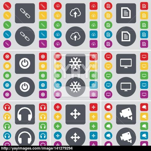 Link, Cloud, Text File, Power, Snowflake, Monitor, Headphones