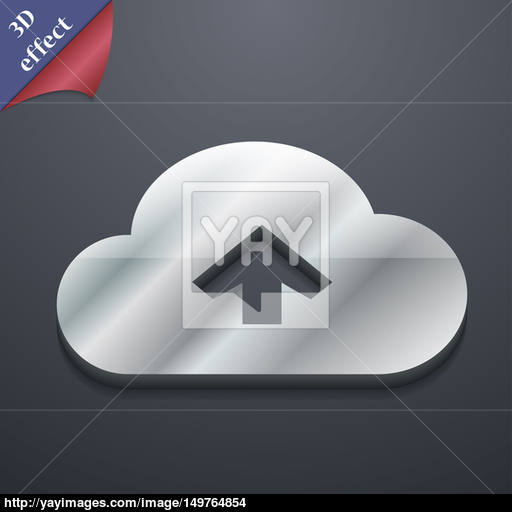 Upload From Cloud Icon Symbol Style Trendy, Modern Design