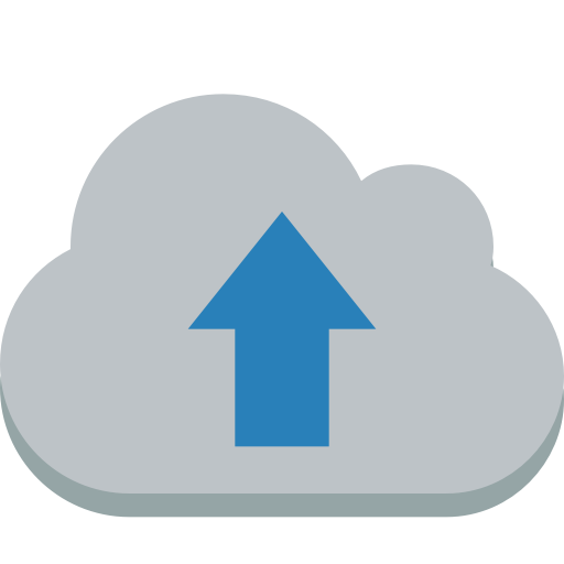 Cloud Up Icon Small Flat Iconset Paomedia