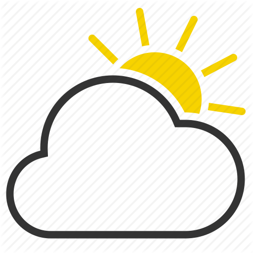 Cloud, Cloudy, Mostly Cloud, Sun Icon