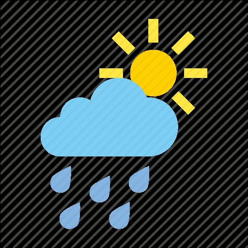 Cloudy, Heavy, Light, Rain, Weather Icon
