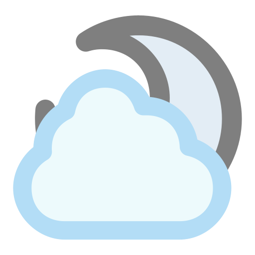 Moon, Cloudy Icon