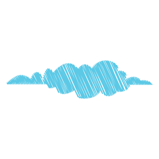 Cloudy Weather Scribble Icon