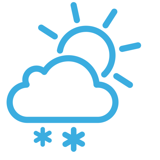 Weather Icon Snow, Snow In Cloudy Weather, Snowfall Icon Png