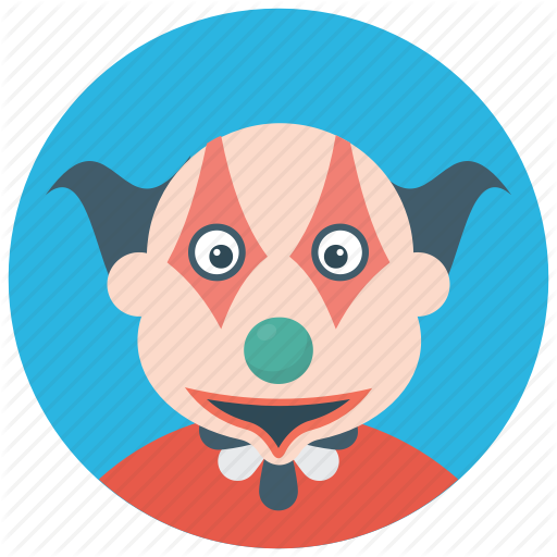 Character Clown, Circus Joker, Devil Clown, Joker, Scary Clown Icon