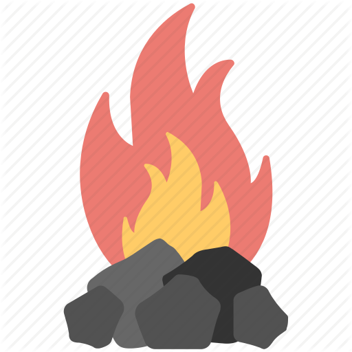 Bbq Briquettes, Camping Fire, Coal Fire, Fire, Flame Icon