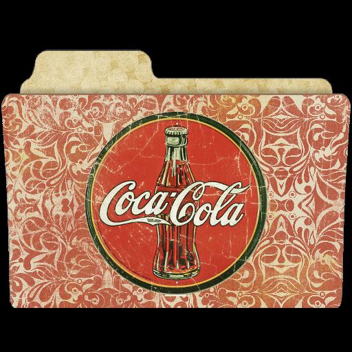 Drink Coca Cola Icon Vintage Folders Iconset Rebelheart