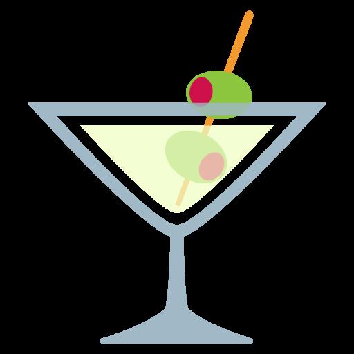 Cocktail Glass Emoji Vector Icon Free Download Vector Logos Art
