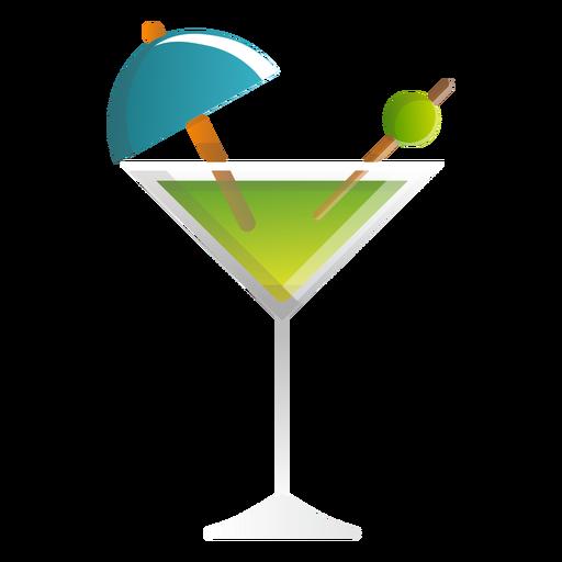 Summer Martini Cocktail Icon