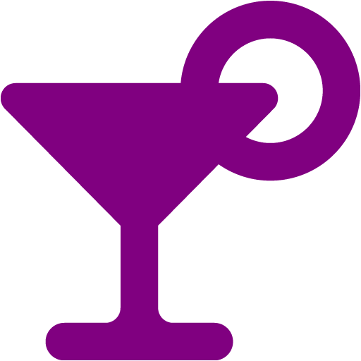 Purple Cocktail Icon