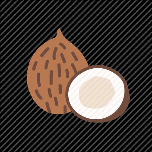 Coco, Coconut, Food, Fruit, Organic, Tropical Icon