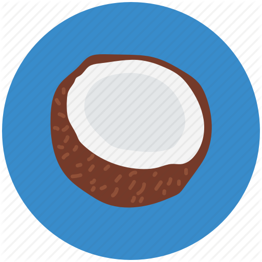 Coco, Coconut, Half Of Coconut, Nut, Sweet Fruit, Tropical Fruit Icon