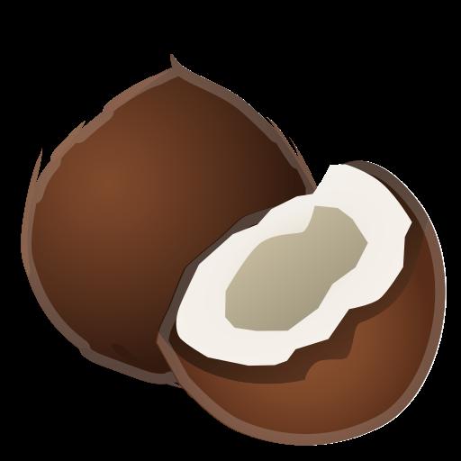 Icono Coco, La Comida, De La Fruta Gratis De Noto Emoji Food