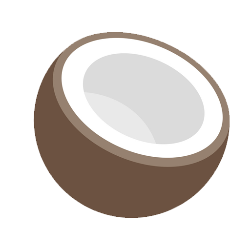 Cropped Coconut Icon Coconut Oil Basics