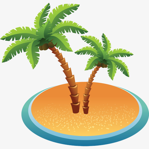 Icon Coconut Tree, Coconut Clipart, Tree Clipart, Beach Png Image