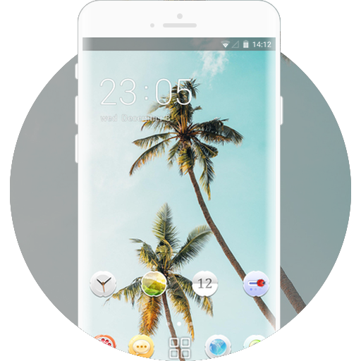 Coconut Tree Free Android Theme U Launcher