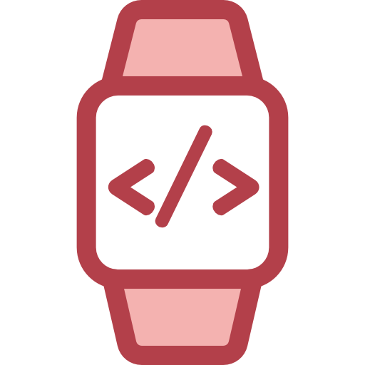 Watch, Smartwatch, Coding Icon