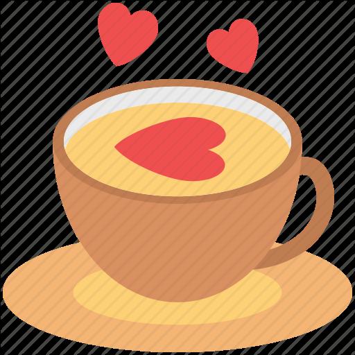 Coffee Cup, Cup With Saucer, Love Symbol, Love Tea, Tea, Tea Cup Icon