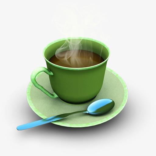 Decorative Coffee Cup Icon, Cup Clipart, Decorative Icon