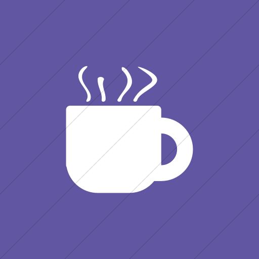 Flat Square White On Purple Broccolidry Coffee Icon