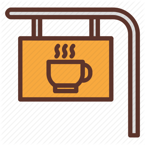 Cafe, Cafetaria, Coffee, Coffee Bar, Coffee Bar Sign, Coffee Shop Icon