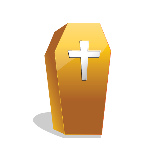 Scary, Coffin, Halloween Icon