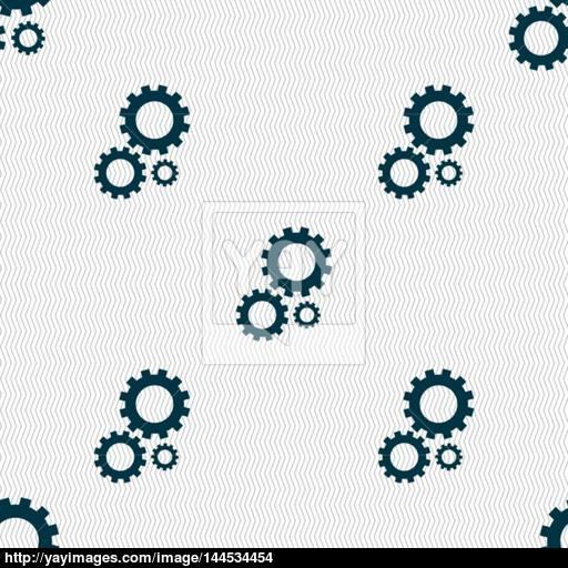 Cog Settings Sign Icon Cogwheel Gear Mechanism Symbol Seamless