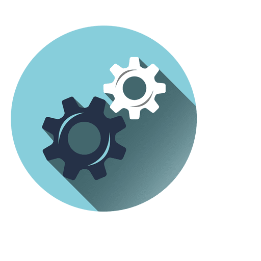 Cogwheels Circle Icon