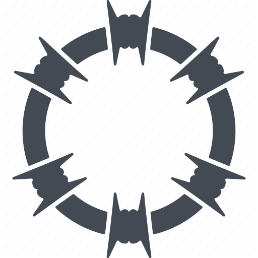 Coil, Deportation, Fencing, Security, Wire Icon