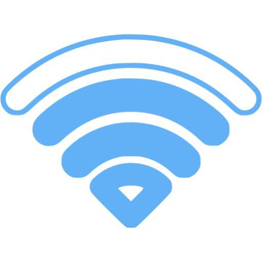 Tropical Blue Wifi Bars Icon