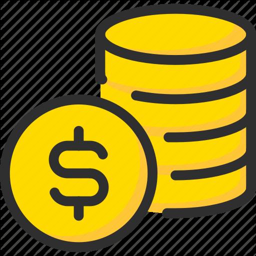 Bank, Banking, Coin, Dollar, Finance, Money, Stack Icon