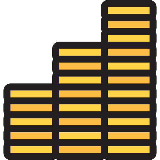 Coin Stack, Coins, Stack Of Coins, Close, Close Symbol, Coin