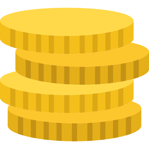 Coins, Business, Money, Cash, Currency, Stack Icon