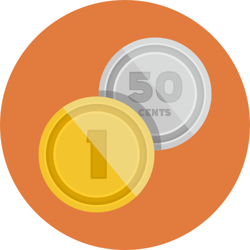 Coins Icon Flat Iconset Flat