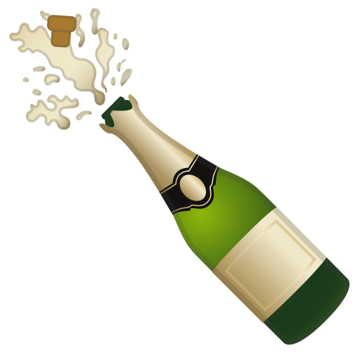 Bottle With Popping Cork Icon Noto Emoji Food Drink Iconset Google
