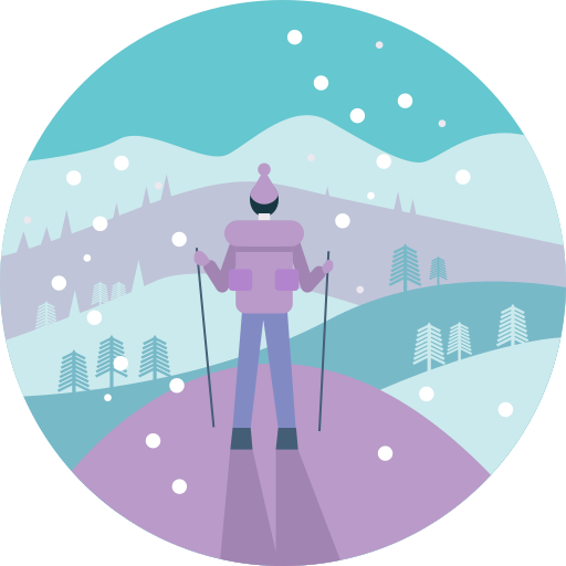 Activity, Cold, Hiking, Man, People, View, Winter Icon Free