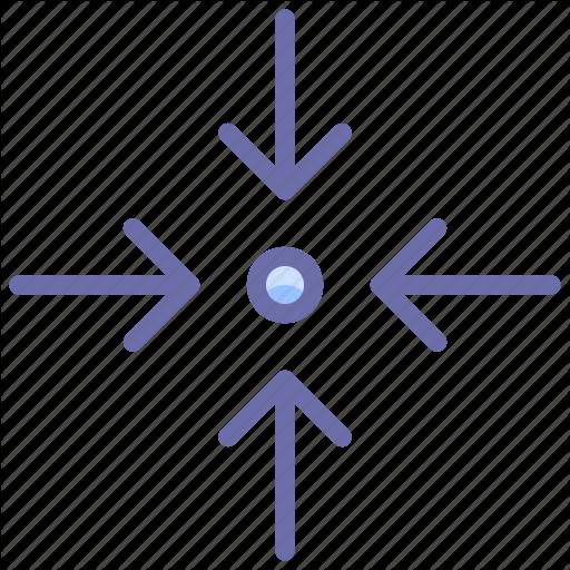 Arrow, Collapse, Scale Icon