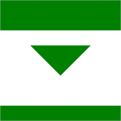 Green Collapse Down Icon