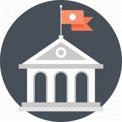 Bank, Building, College, Education, Knowledge, School, University Icon