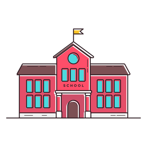 Classical School Building Icon