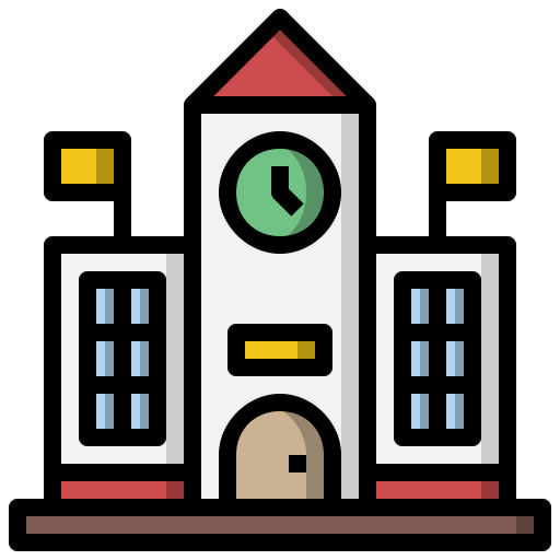 High School Free Buildings Icons